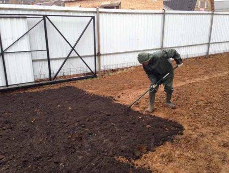 Распределение насыпного грунта