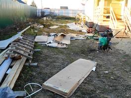 Уборка после строительства участка 8 соток