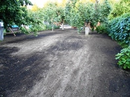 Подготовка почвы под газон в Подольске