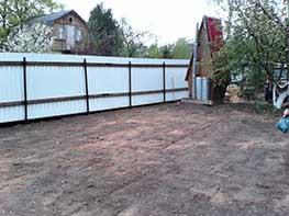 Подготовка основания под газон в Серпухове